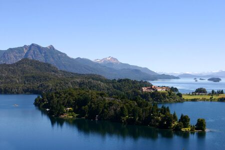 Panoramic View on Bariloche the mountains and the Lake - Patagonia photo