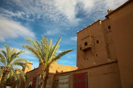Old Fort - the kasbah in ouarzazate at night photo
