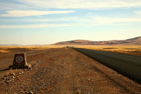 Empty Road somewhere in Namibia Stock Photo - 11470455