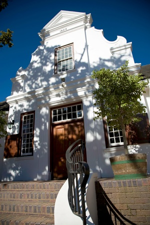 Colonial architecture in Franschhoek near Cape Town.