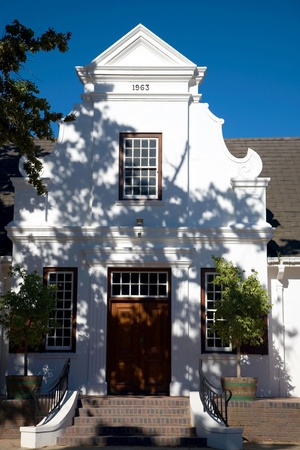 Colonial architecture in Franschhoek near Cape Town. photo