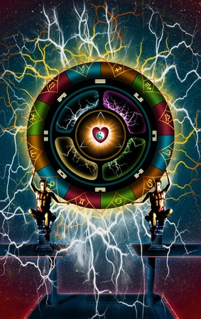 astrological wheel of love  photo