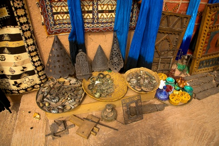 Clothes and Jewelry from the souk of Marrakesh, Morocco