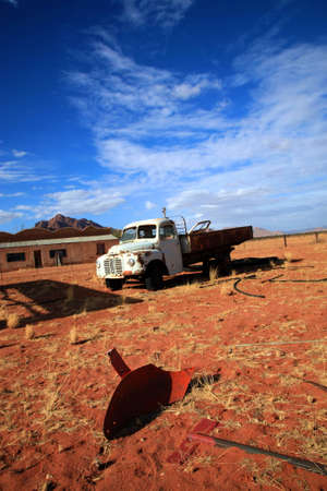 Old truck abandoned in the desert in the Namib-Naukluft National Park in Namibia