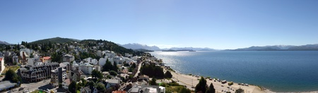 Panoramic View on Bariloche and the Lake - Patagonia photo