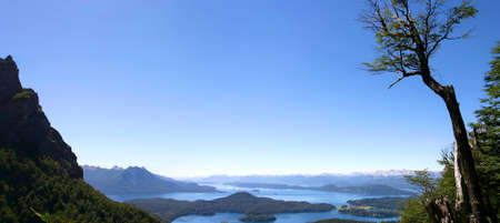 Panoramic View on Bariloche the mountains and the Lake - Patagonia Stock Photo - 12572562