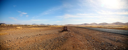 Tarred road to Sossusvlei area, in the southern part of the Namib Desert Stock Photo - 12579808