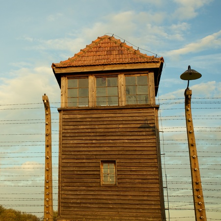 treblinka: Mirador in Auschwitz Birkenau concentration camp Editorial
