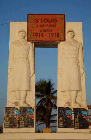 seconda guerra mondiale: Landmark a Saint-Louis a celebrare i morti durante la seconda guerra mondiale