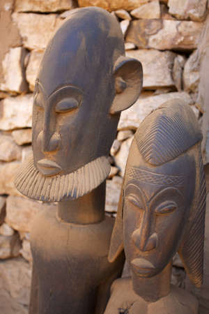 African Dogons sculptures in Mali made in wood