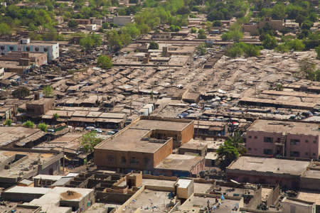 bamako: Aerial view of the city of Bamako in Mali during the day