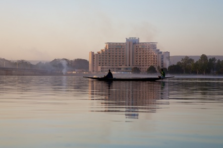 bamako: Romantic atmosphere at river Niger in Bamako - Mali.