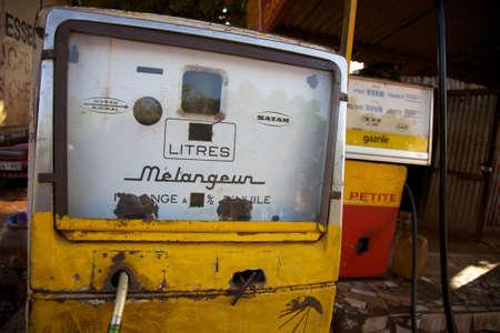 bamako: Old style fuel pumps in Bamako, Mali. Editorial