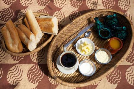 bamako: My breakfast in a guesthouse in Bamako.