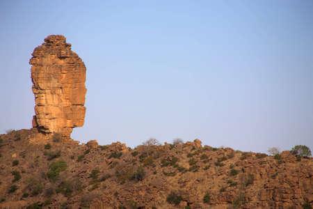 ethnology: Strange rock on the The Bandiagara cliff