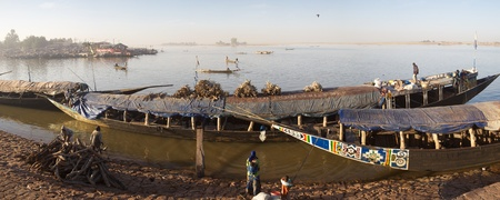 Vessel at the harbor of Mopti on Niger river in Mali. photo