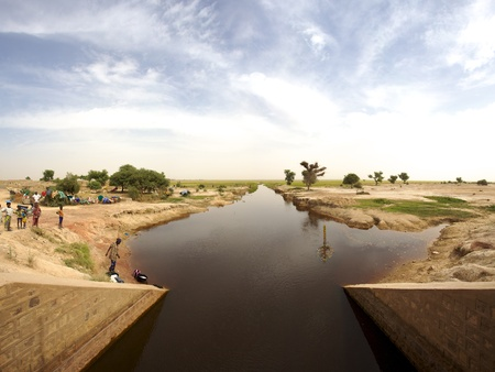 Agricultural irrigation system in Mopti, Mali photo