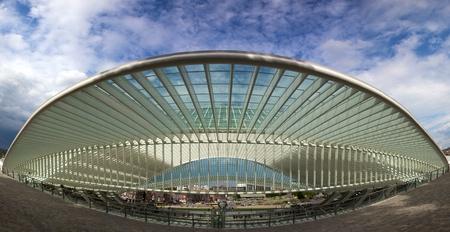 Moderne und futuristische Lüttich-Guillemins Bahnhof in Belgien durch den Architekten Calatrava Standard-Bild - 12572256