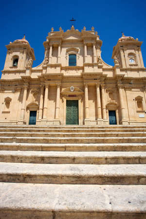 Baroque church San Francesco in Noto, Sicily