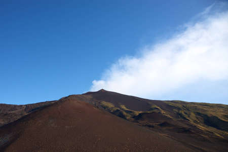 View of the Etna early in the morning with a blue sky photo