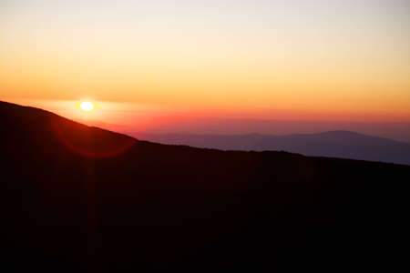Sunset from the Etna with clear sky and a wide horizon Stock Photo - 12579733