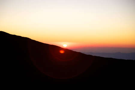 Sunset on the Etna with clear sky Stock Photo - 12579769