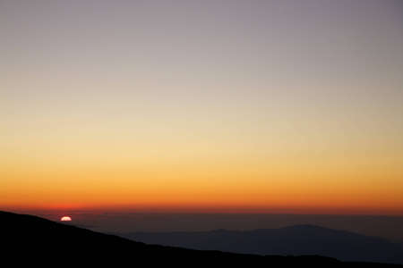 Sunset from the Etna with clear sky and a wide horizon Stock Photo - 12579792