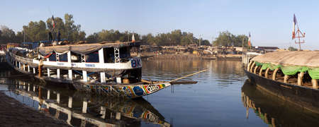 Vessel at the harbor of Mopti on Niger river in Mali