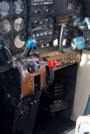 Safari plane cockpit in Moremi - Botswana