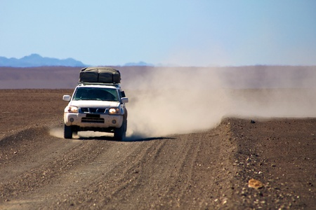 4x4 in the desert of Namibia - Kaokoland Stock Photo - 12647508