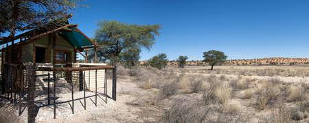hospedaje: Detalle de la casa de campo en el Parque Transfronterizo Kgalagadi