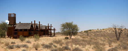 Detail of lodge in kgalagadi Transfrontier Park with the desert all around, South Africa. photo