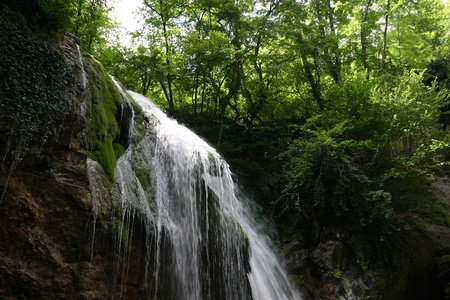 Cascades in spring forest in Crimea in Ukraine Stock Photo - 12797487