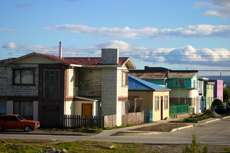 strait of magellan: city - Punto Arenas - Magellan Strait Editorial
