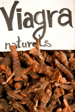Souk of Marrakesh in Morocco - Natural viagra on sale photo