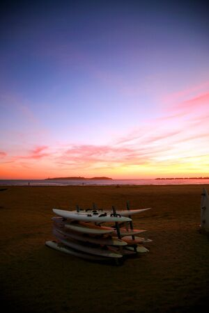 wonderfull: Wonderfull sunset in Essaouira with surf boards - Morocco