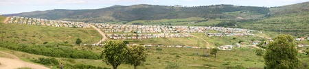 township: Township in South Africa - Group of colored houses