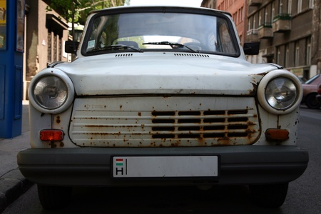 Old car of the socialism in Eastern Europe  Stock Photo - 12790214