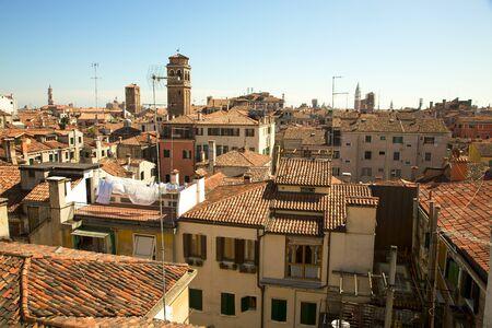 Roofs pf venetian houses in Venice