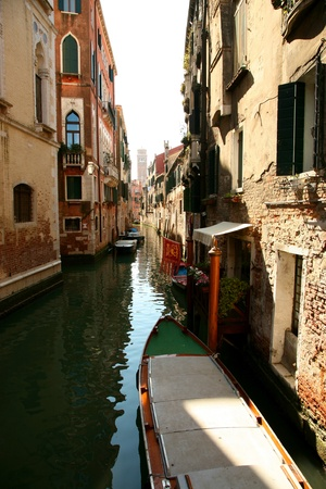 Classic view of Venice with canal and old buildings, Italy Stock Photo - 12790132