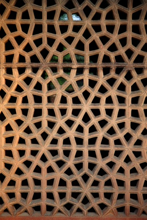 Detail of a window at the  Humayun tomb in New Delhi photo