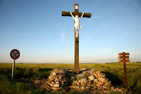 country side: Jesus in the country side, north of France