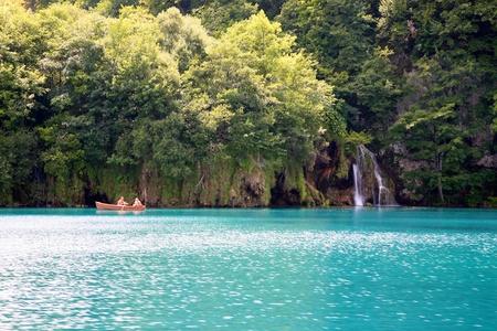 The Plitvice Lakes in the Plitvice Lakes municipality, in the mountainous region of Lika. photo