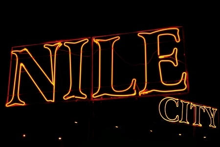 nile: Neons with Nile city in Cairo