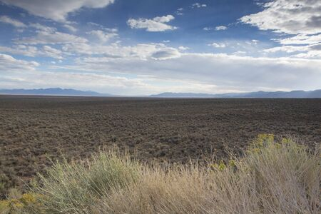 Ladscape on the Nevada highway 50. Route 50 or the loneliest road in America, Nevada Stock Photo - 17524919