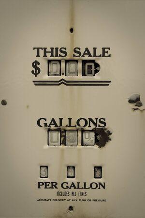 Retro Gas Pump, outdoor old petrol station in Utah, US Stock Photo - 17519760