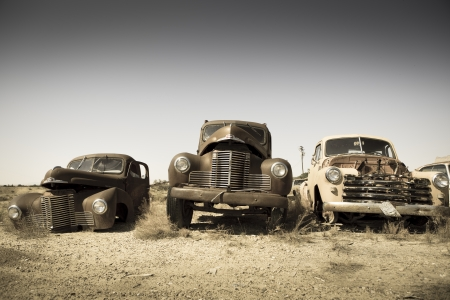 Abandoned vintage car in the Utah, vintage style photo Stock Photo - 17522173