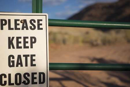 Sign on an farm in US Outback Stock Photo - 17520050