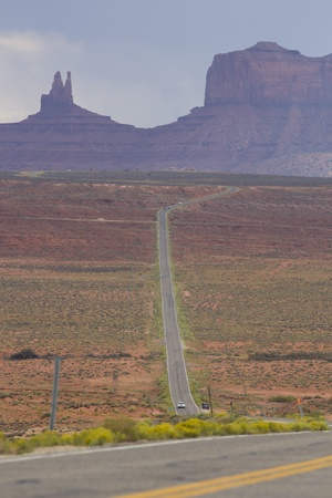 Empty road leading to Monument Valley with clear weather Stock Photo - 17521771