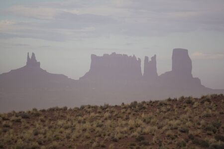 View of monument valley late afternoon photo